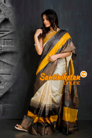 Hand Painted Tussar Silk SN20201911