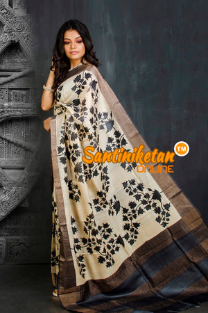 Hand Painted Tussar Silk SN20201917