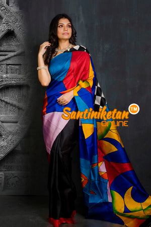 Hand Made Design On Murshidabad Silk SN20201932