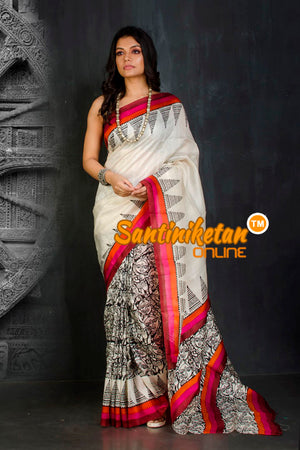 Hand Block On Murshidabad Silk SN20202029
