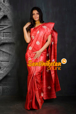 Pure Ghicha Silk Embroidery Saree SN20202058