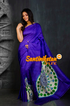Hand Block On Murshidabad Silk SN20202095