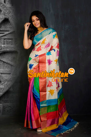 Hand Painted Tussar Silk SN20202104