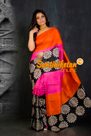 Hand Block On Murshidabad Silk SN20202107