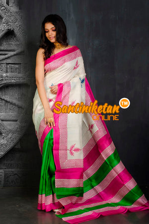 Hand Block On Murshidabad Silk SN20202116