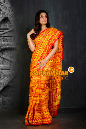Hand Block On Murshidabad Silk SN20202134