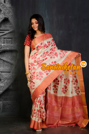 Hand Painted Tussar Silk SN20202137