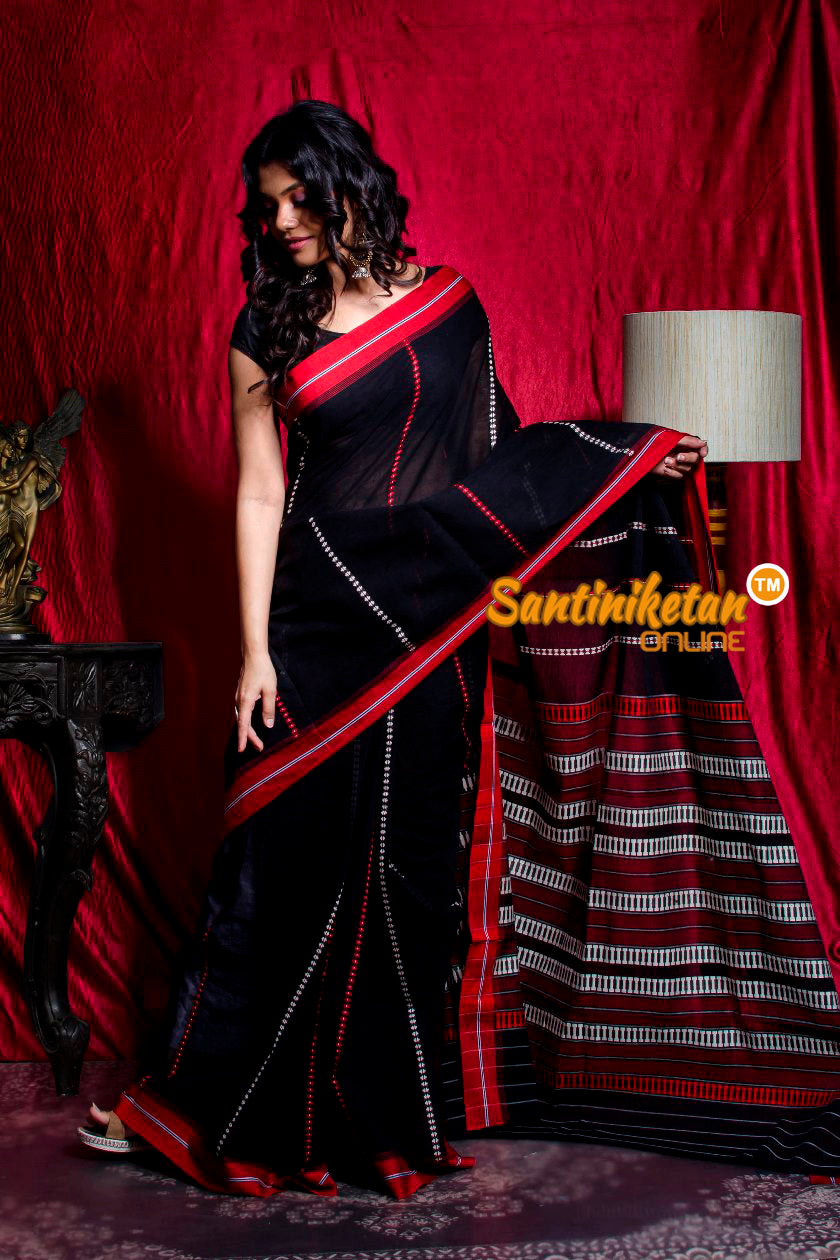 All Over And Pallu Tribal Work Begampuri Saree SN20203464