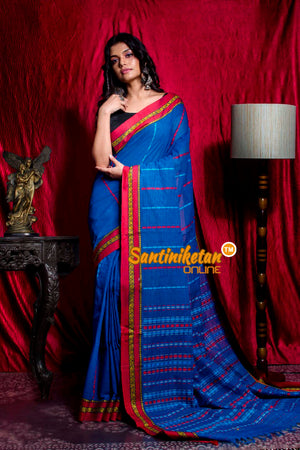 All Over Tribal Work And Designed Border Begampuri Saree SN20203479