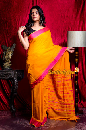 Pallu Tribal Work And Temple Work Border Begampuri Saree SN20203482