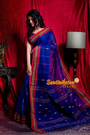 All Over And Pallu Tribal Work And Design Border Pure Cottan Saree SN20203494