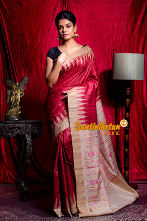 Traditional Gopalpur Tussar Ghicha Silk Saree SN20203577