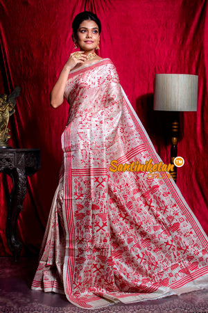 Kantha Stitch Saree SN20203753