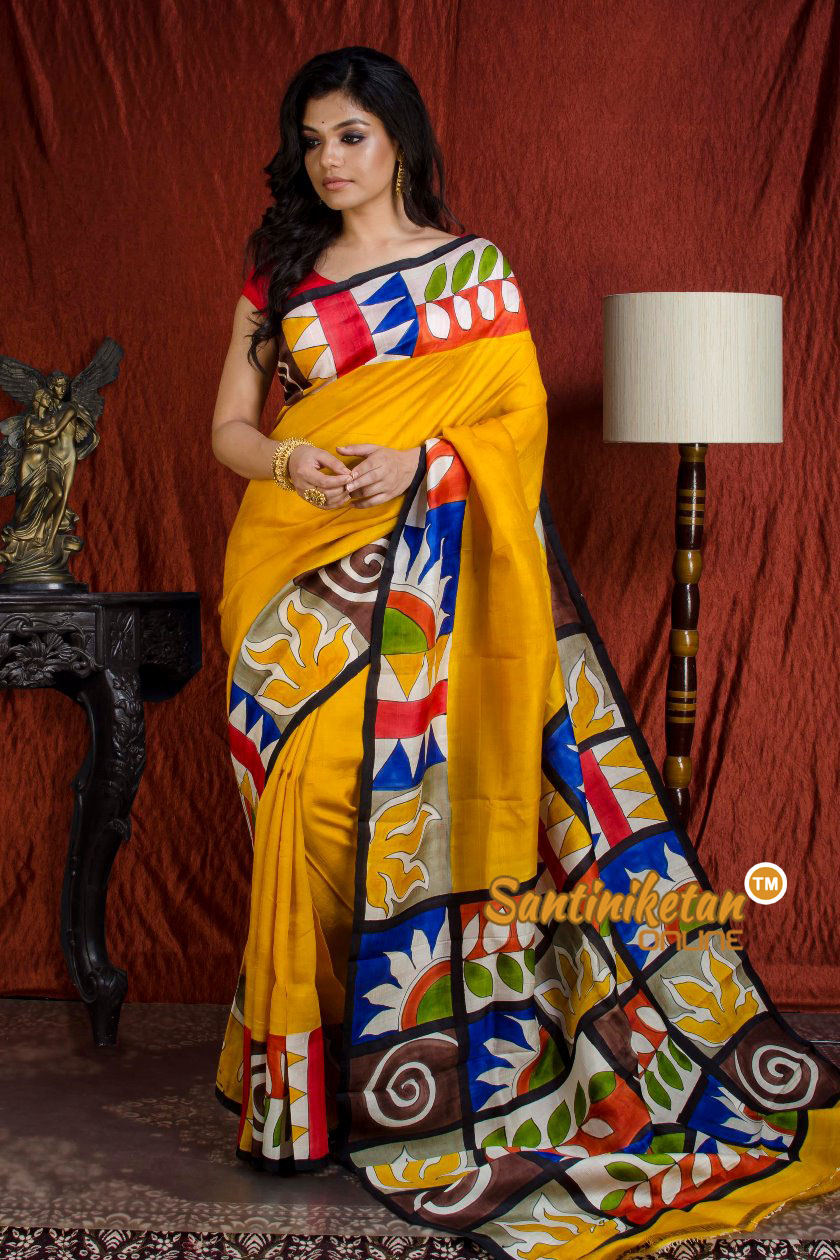 Hand Made Design On Murshidabad Silk SN20203868