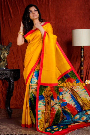 Hand Made Design On Murshidabad Silk SN20203872