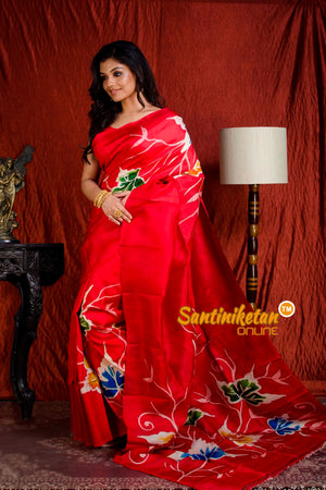 Hand Made Design On Murshidabad Silk SN20203875