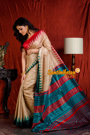 Traditional Gopalpur Tussar Ghicha Silk Saree SN20203887