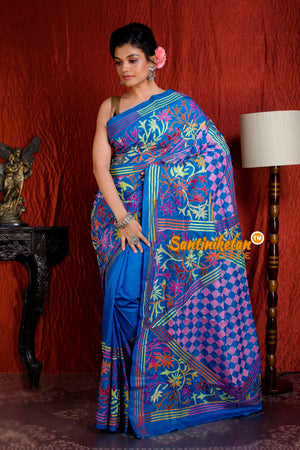 Kantha Stitch Saree SN20204943