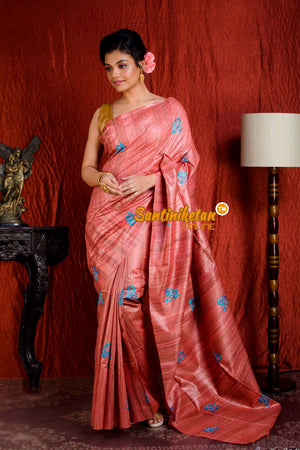 Pure Ghicha Silk Embroidery Saree SN20205046