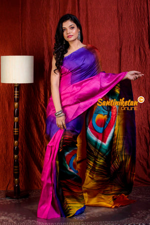 Hand Made Design On Murshidabad Silk SN20205679