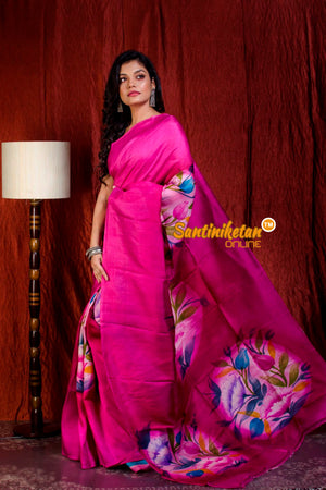 Hand Made Design On Murshidabad Silk SN20205682