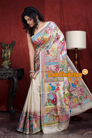 Kantha Stitch Saree SN20206623
