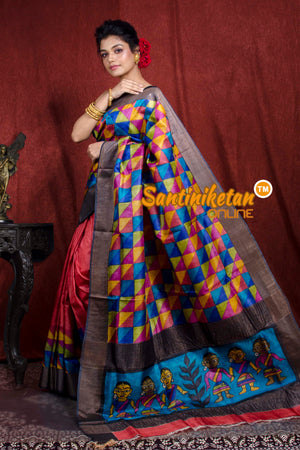 Hand Painted Tussar Silk SN20206928