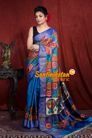 Hand Painted Tussar Silk SN20206931