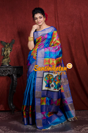 Hand Painted Tussar Silk SN20206943