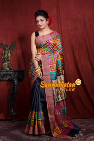 Hand Painted Tussar Silk SN20206946