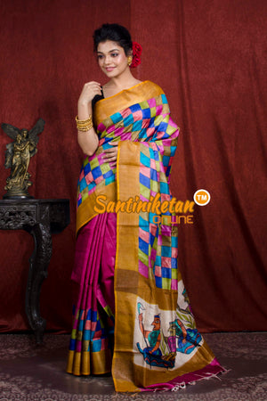 Hand Painted Tussar Silk SN20206973