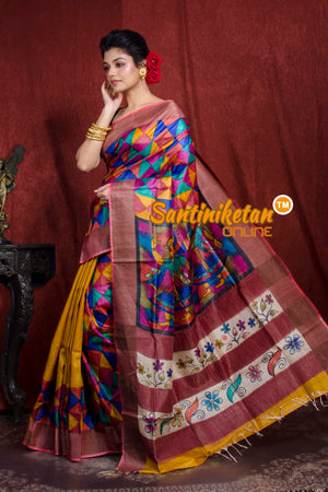 Hand Painted Tussar Silk SN20206976