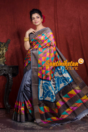 Hand Painted Tussar Silk SN20206979