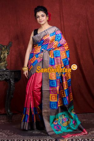 Hand Painted Tussar Silk SN20206982