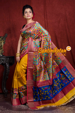 Hand Painted Tussar Silk SN20206985