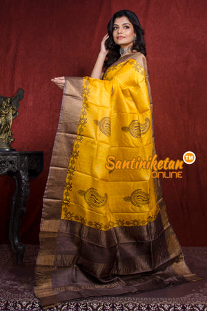 Hand Painted Tussar Silk SN20217801