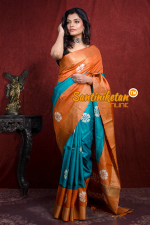 Hand Painted Tussar Silk SN20217804