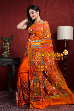 Kantha Stitch Saree SN20217928