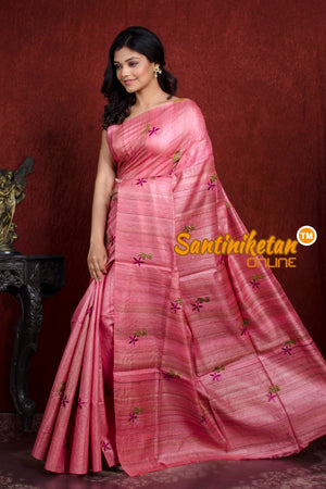 Pure Ghicha Silk Embroidery Saree SN20210534