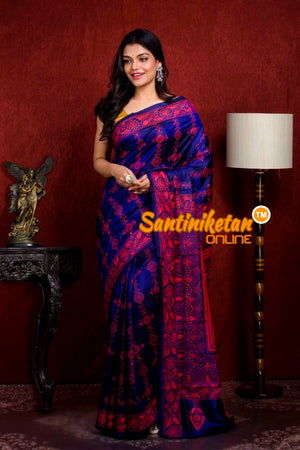 Kantha Stitch Saree SN20210907