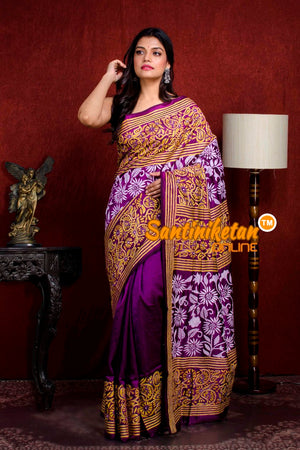 Kantha Stitch Saree SN20210917