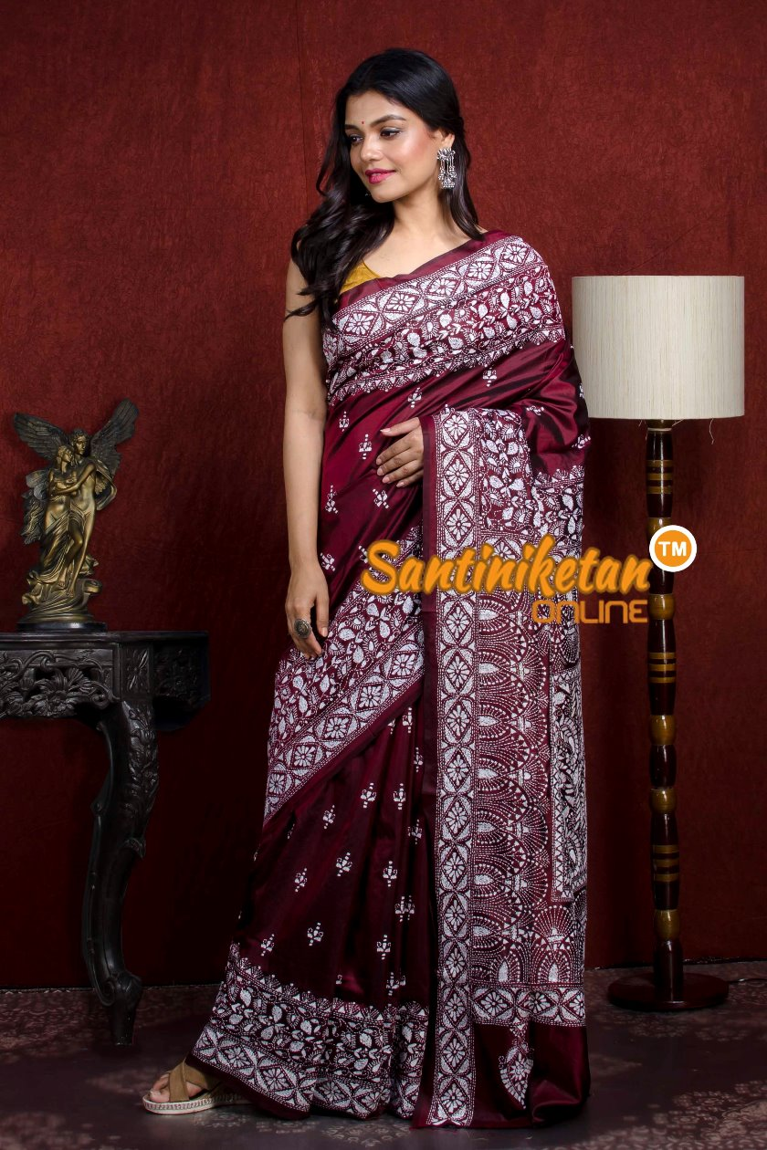 Kantha Stitch Saree SN20210927