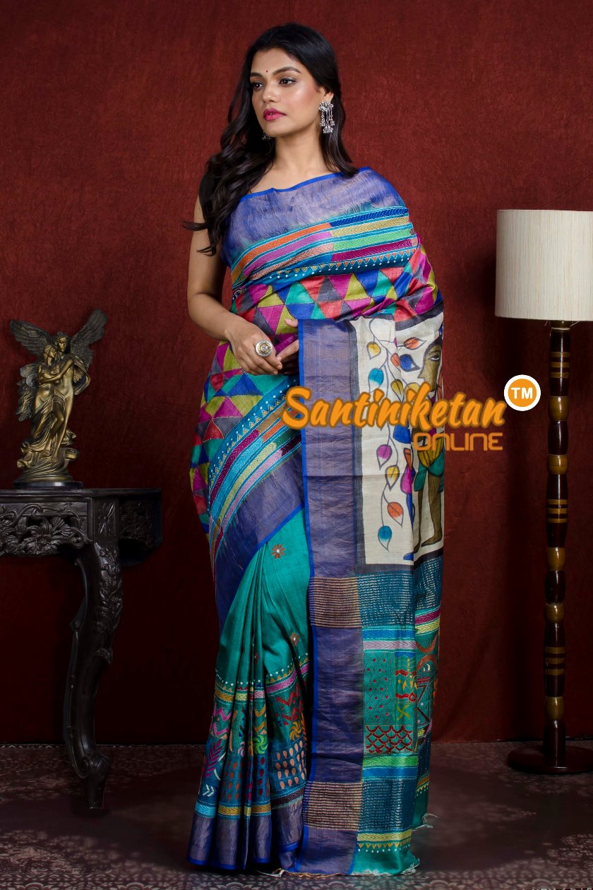Kantha Stitch Saree SN20210939