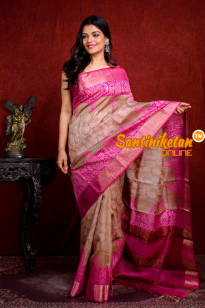 Hand Painted Tussar Silk SN20210946