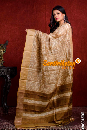 Hand Painted Tussar Silk SN20210949