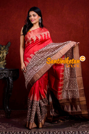 Hand Painted Tussar Silk SN20210952