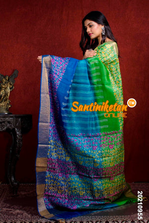 Hand Painted Tussar Silk SN20210955