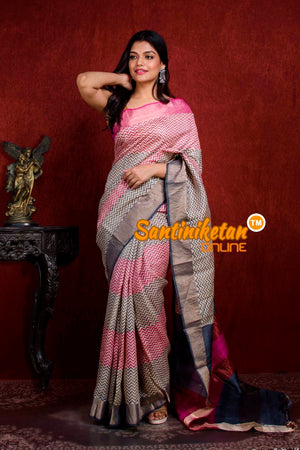 Hand Painted Tussar Silk SN20211034
