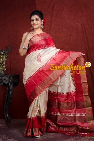 Hand Painted Tussar Silk SN20218810