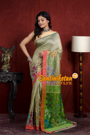 Handloom Cotton Kantha Saree SN20219818